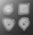Home tv glass buttons vector