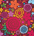 Floral ornamental poster vector