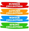 Collections banners vector
