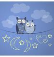 Night owl couple vector