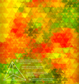 Blurred golden poppy triangle mosaic template vector