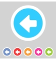 Flat game graphics icon arrow left vector