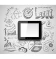 Creative tablet pc idea vector