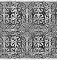 Abstract circle monochrome seamless texture vector