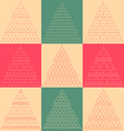Stylized flat christmas trees icons vector