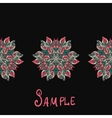 Ethnic paisley ornament abstract background with vector