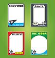 Soccer futol cards vector