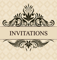 Invitations border vector