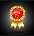 Best choice red and gold ribbon award vector