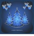 Christmas blue card vector