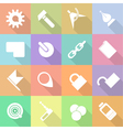 Set flat technology icons with shadow vector