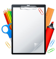 Clipboard and tools vector