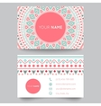 Business card template blue white and pink beauty vector