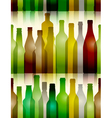 Seamless glass bottle background vector