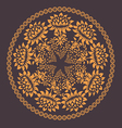 Ornamental floral pattern with many details vector