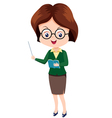 Woman teacher vector
