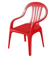 A red chair vector