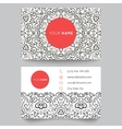 Business card template black red and white beauty vector