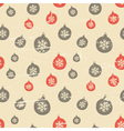 Retro style seamless christmas baubles pattern vector