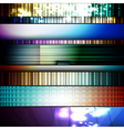 Set of abstract frames vector