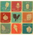 Ice cream labels vector