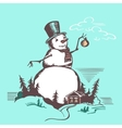 Big snowman vector