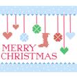 Christmas cross stitch vector