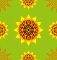 Seamless sun flower abstract background vector