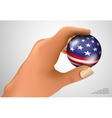 American flag with the ball vector
