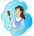 Hairdresser profession vector