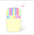 Price tag with easter pattern vector