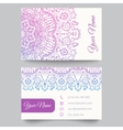 Business card template purple and white beauty vector