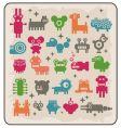 Robotsmonsters animals vector