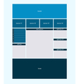 Website business layout vector