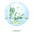 Eco green friendly environmental button vector