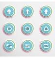 Arrow buttons vector