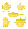 Kitchenware flat set vector