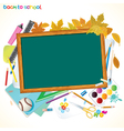 Back to school background with copy space vector