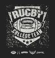 College team american football emblem vector