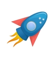 Cartoon rocket 3d vector