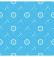 Sewing needle and buttons minimal seamless pattern vector