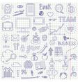 Business doodle background vector