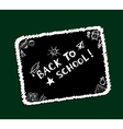 Back to school sketch frame vector