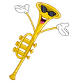 Trumpet cartoon vector