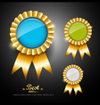 Collections colorful ribbons award vector