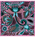 Acrylic painting flower ethnic design vector