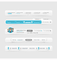 Web site design menu vector