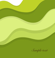 Abstract background with green layers vector