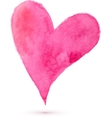 Watercolor painted heart for your design vector