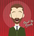 Hilarious guy stand up comedian cartoon vector